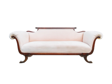 Apricot: Apricot Velvet Vintage Sofa