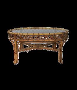 Rattan Oval Table