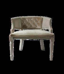 Bette Chairs: Champagne Velvet