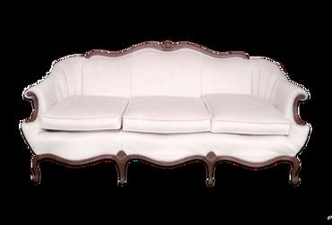Giselle: Ivory Velvet Sofa