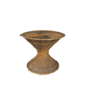 Hourglass Wicker Table