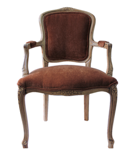 Isabella Chairs: Copper/Rust Chenille