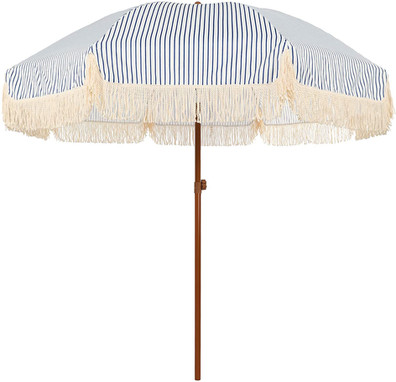 Blue & White Striped Umbrella