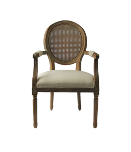 Charlotte Chairs: Ivory Linen