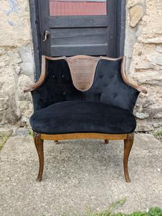 Billie Chairs: Black Velvet