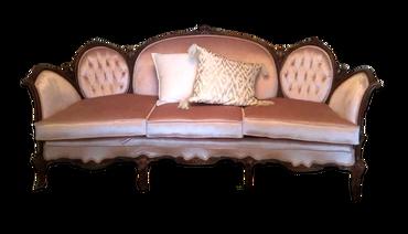 Aurora: Light Blush Velvet Sofa