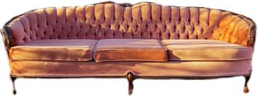 Rose All Day Sofa: Blush Velvet Vintage Sofa
