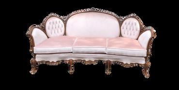 Aurora Sofa: Soft Pink Velvet