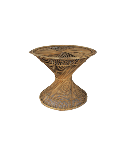 Hourglass Wicker Table