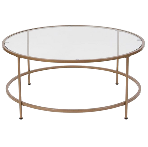 Glass and Brass Round Table