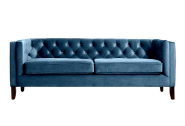Ultramarine: Blue/Teal Velvet Sofa