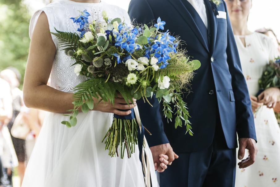 plantárium | Modrá svatební kytice