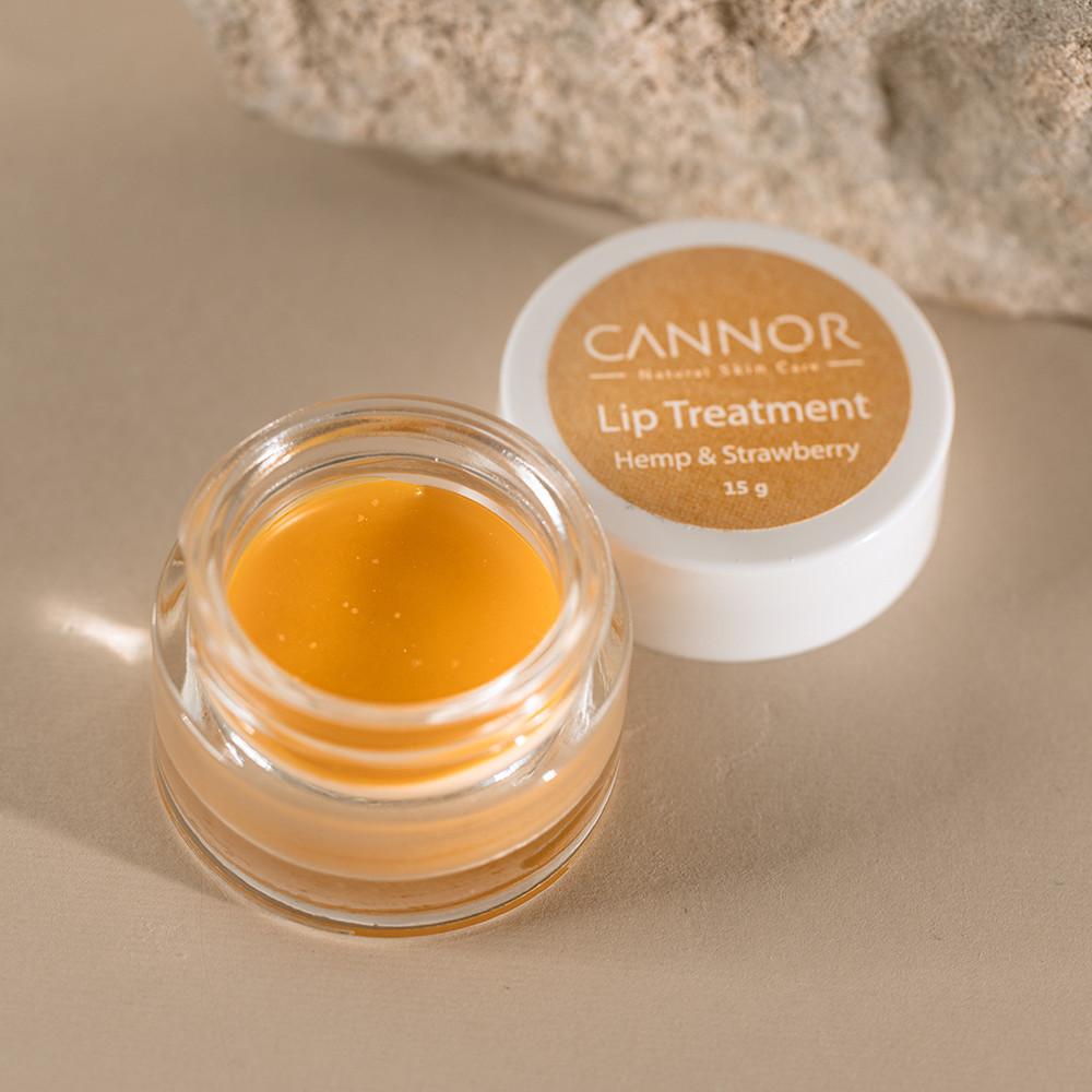 CANNOR    Výživný a zklidňující elixír-Olej na vlasy a vousy-50mlArganový olej – BIO 50ml Intenzivní balzám na rty Lip Treatment