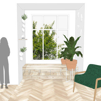 plantárium - interiér Praha Vršovice - vizualizace