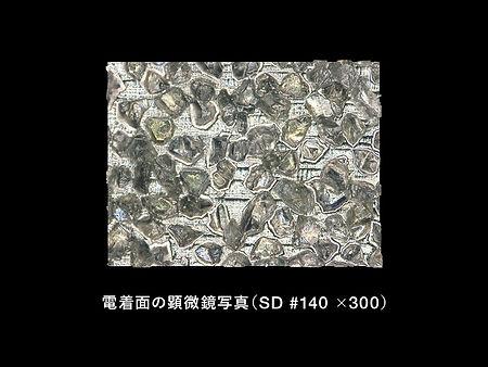 電着面の顕微鏡写真