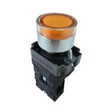 Botão de comando metálico iluminado 22mm