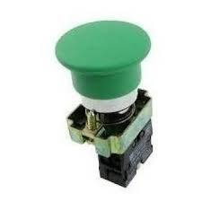 Botão de comando tipo cogumelho, metálica 22mmm