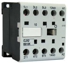 Mini contator auxiliar tensão Vcc fixação em trilho dim