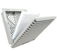 Filtro plástica com filtro para mini ventilador para painéis de controle