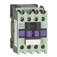 Contator tripolar  contatos  3P com 1 contato de controle, fixação em trilho dim