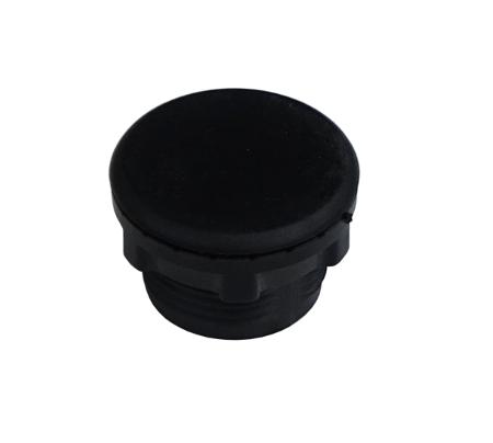 Tampa plástica preta para furo de 22mm