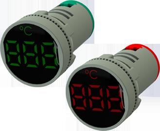 Sinaleiro medidor de tensão VCA Digital de 22mm