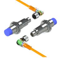 Sensor foto elétrico retro refletivo G18  Invólu. metálico a cabo