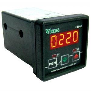 Controlador de temperatura 48x48mm uso frontal 2 saídas rele