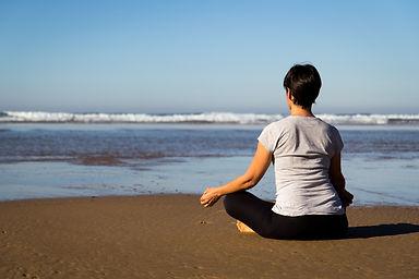 Ocean meditation on the Vicentine Coast Algarve Portugal
