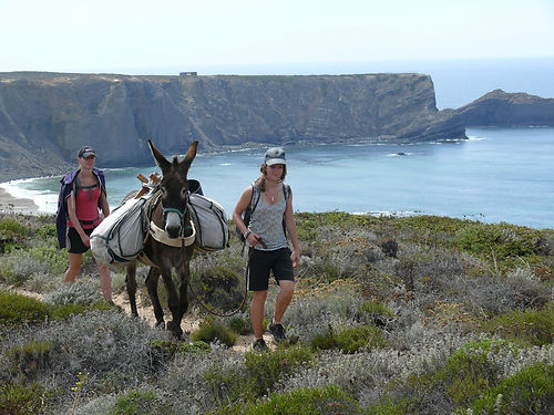 Hiking on the Vicentine Coast Natural Park Algarve Portugal