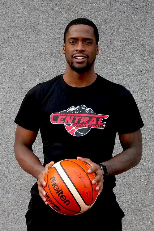 Swiss Central Basketball Fanshirt schwarz