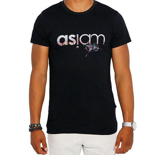 Asiam Kompass T-Shirt Schwarz