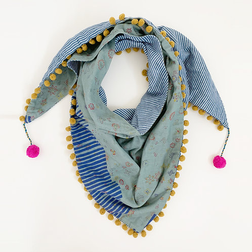 Meadow Tracks Triangle Scarf
