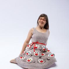 Commissioned Sock Monkey Dress, 2008