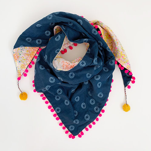 Birds Eyes Triangle Scarf