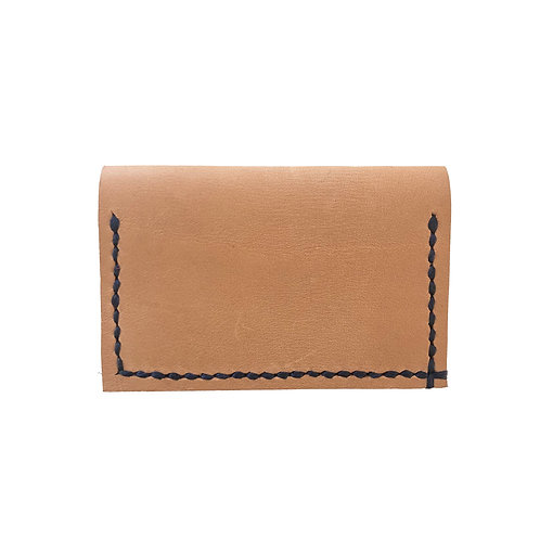 Slim Hand Stitched Champagne Wallet