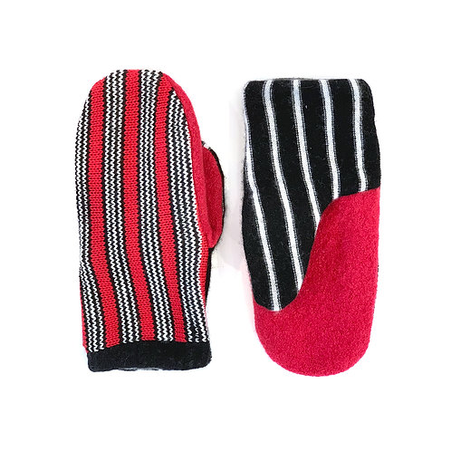 High Contrast Striped Mittens