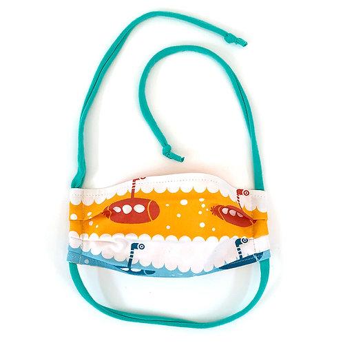 Kids Submarine Pleated Face Mask