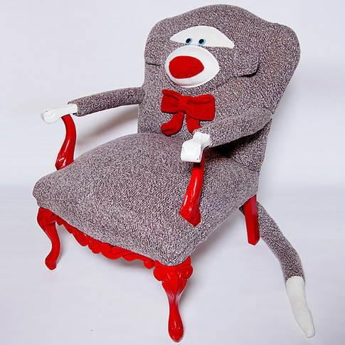 Sock Monkey Chair, 2007