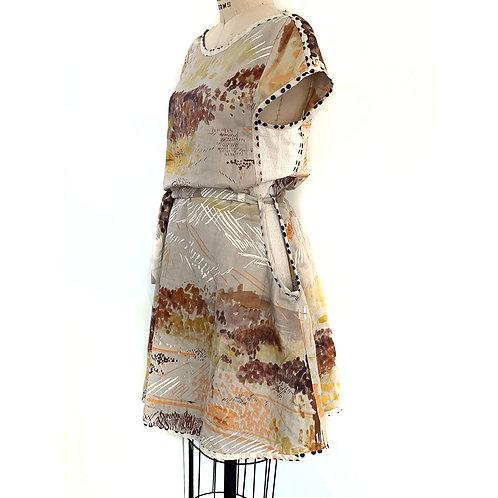 Pocketed Landscape Dress