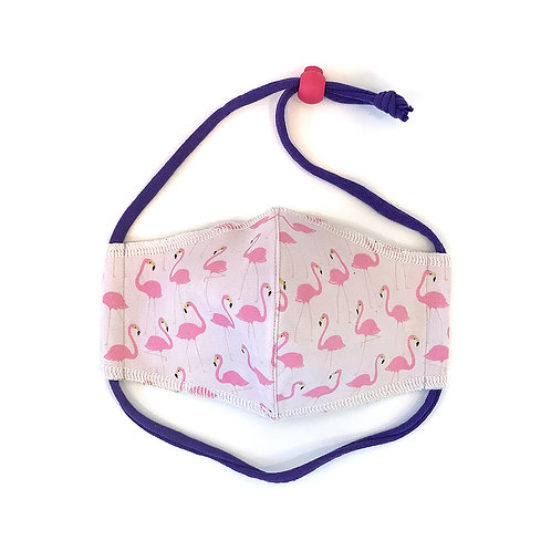 Kids Flamingos Fitted Face Mask
