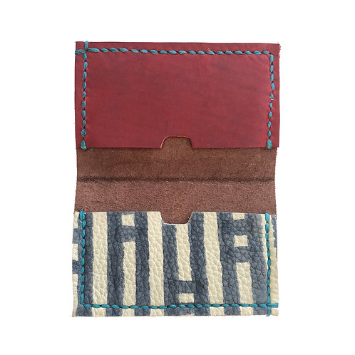 Slim Hand Stitched Rose Quartz Wallet