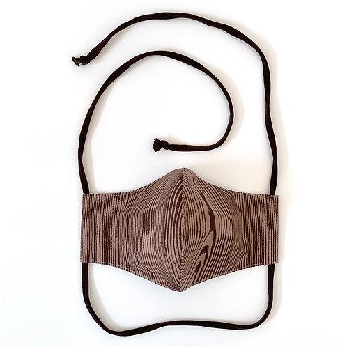 Faux Bois Face Mask