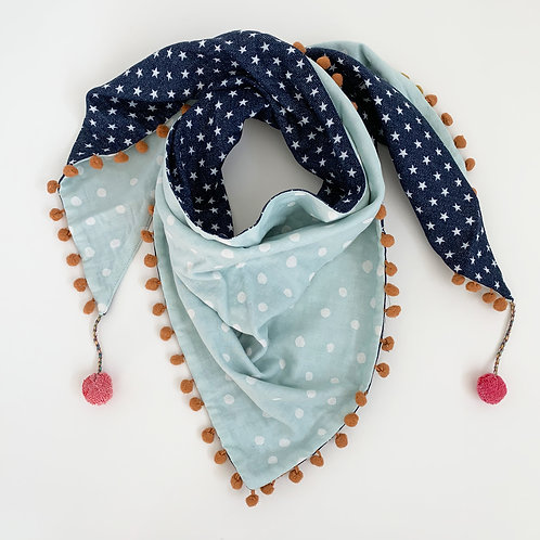Stars and Spots Triangle Scarf