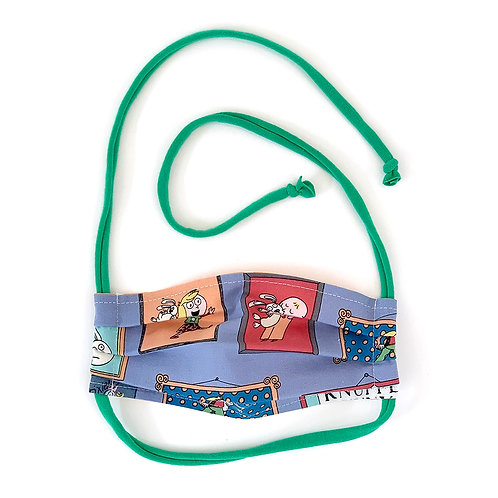 Kids Knuffle Bunny Frames Pleated Face Mask