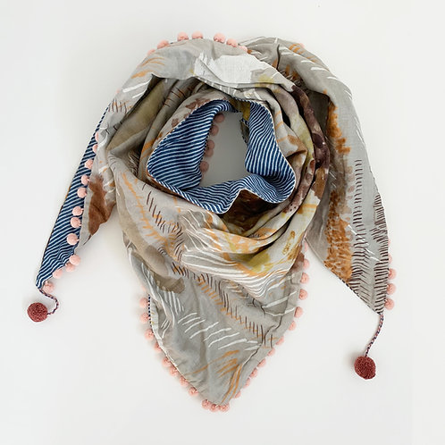 Painter's Delight Triangle Scarf
