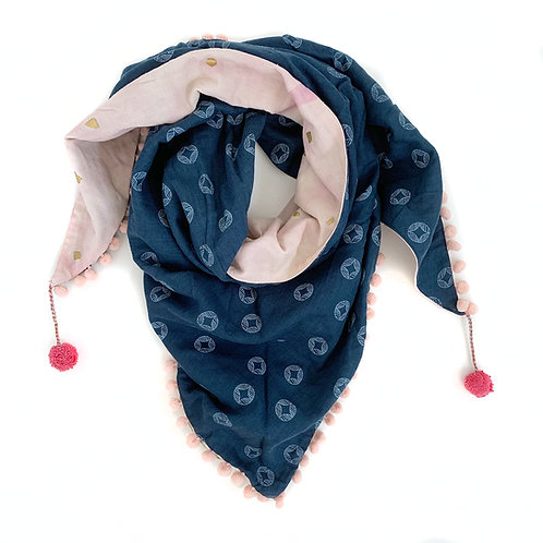 Blooming Posies Triangle Scarf