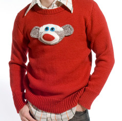 Commissioned Sock Monkey Sweater, 2007