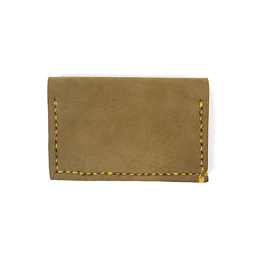 Slim Hand Stitched Lichen Wallet