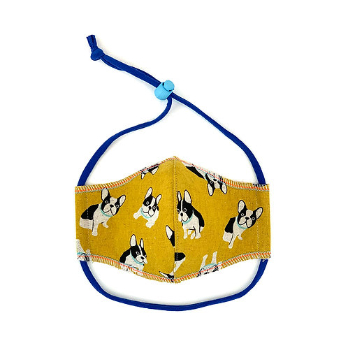 Kids Frenchie Fitted Face Mask